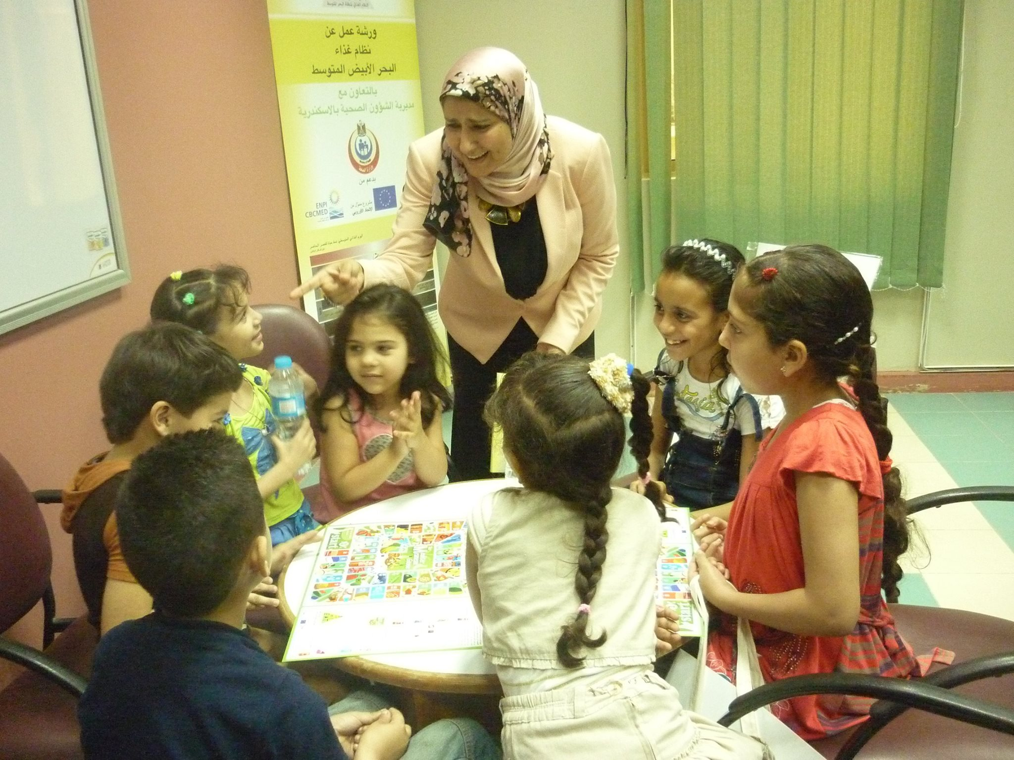 Dr. Sahar talking to the youngest age group about the Mediterranean Diet..jpg
